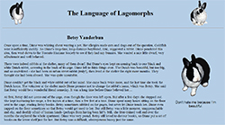 The Language of Lagomorphs Website