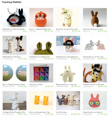 Etsy Treasury - Twacking Wabbits