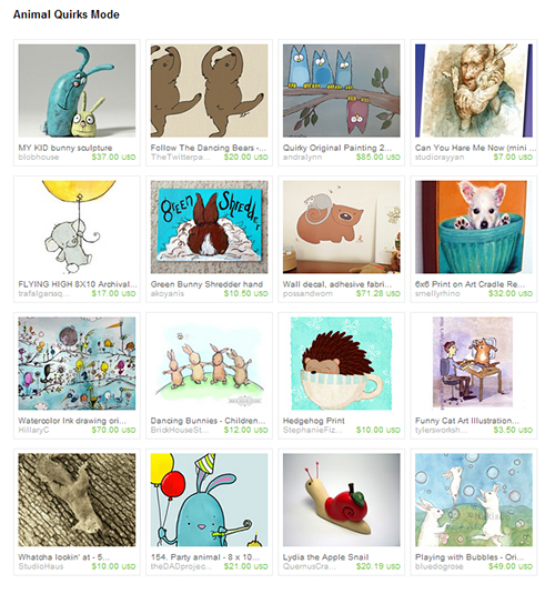 Animal Quirks Mode Etsy Treasury