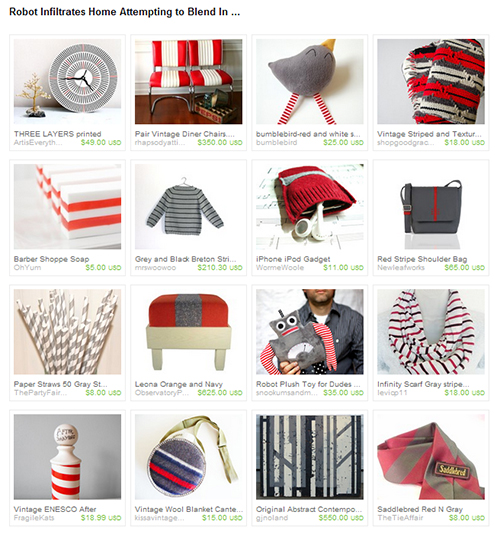 Etsy Treasury - Robot Infiltrates Home Attempting to Blend In