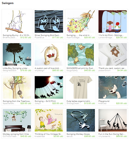 Swingers Etsy Treasury