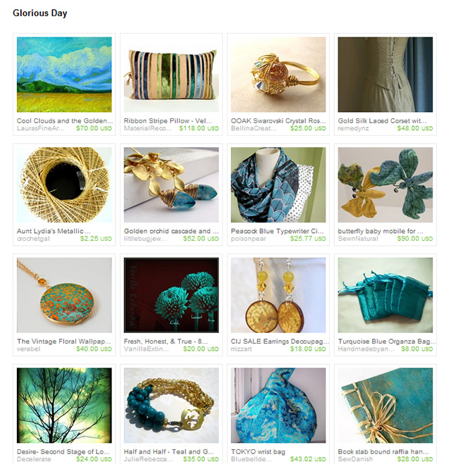 Glorious Day Etsy treasury
