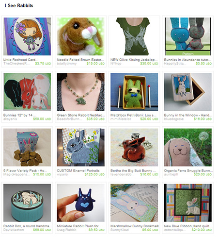 Etsy I See Rabbits Treasury