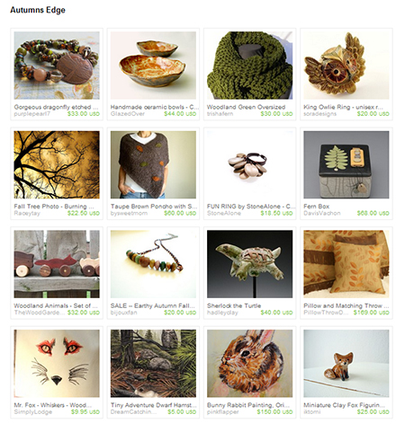 Etsy Treasury Autumns Edge