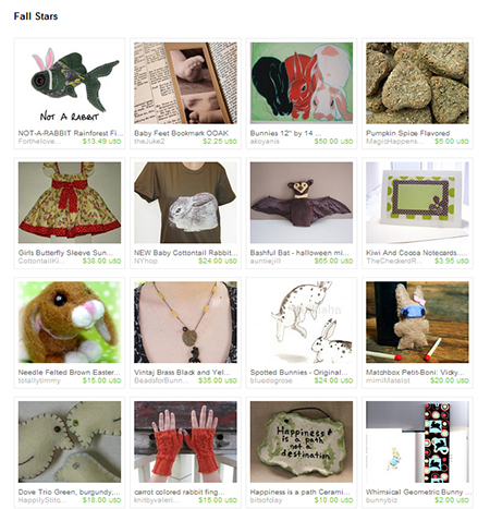 Fall Stars Etsy treasury