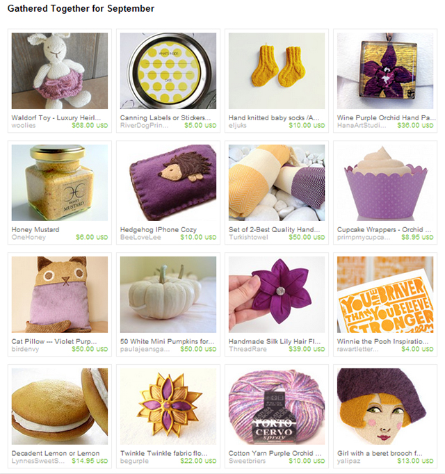 Etsy Treasury - Gathered Together for September