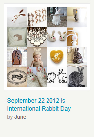 September 22nd 2012 is  International Rabbit Day by June