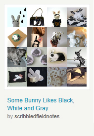 Some Bunny Likes Black, White and Gray