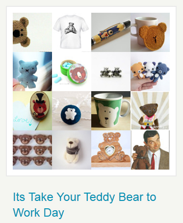 Take your teddy to work day